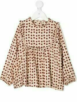 Marie-Chantal Flora polka dot print blouse - PINK