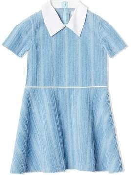 Burberry Kids Peter Pan collar corduroy dress - Blue