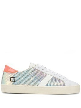 D.A.T.E. iridescent lace-up sneakers - Silver