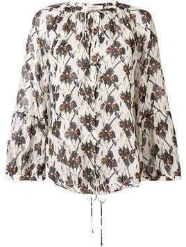 Dorothee Schumacher floral long-sleeve blouse - White