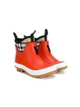 Burberry Kids Vintage Check rain boots - Red