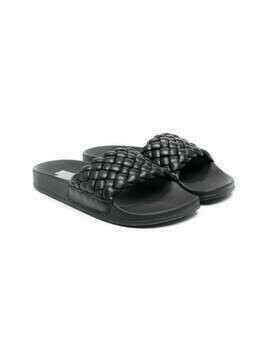 Cinzia Araia Kids interwoven-strap sandals - Black