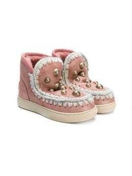 Mou Kids Eskimo studded boots - Pink & Purple
