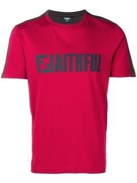 Fendi 'Faithful' T-shirt - Red