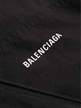 Balenciaga logo print zip-up jacket - Black