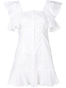 Kendall+Kylie square neck shirt dress - White