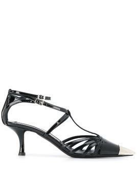 Nº21 strappy pointy pumps - Black