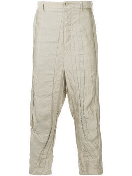 Forme D'expression panelled drop-crotch trousers - Neutrals