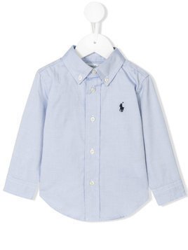 Ralph Lauren Kids short sleeve logo shirt - Blue