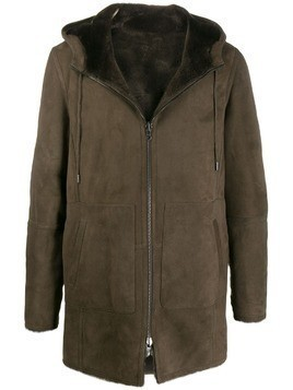 Desa 1972 hooded sheepskin coat - Brown