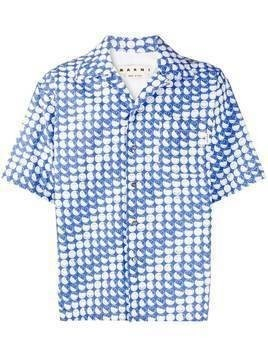 Marni smile-print short-sleeve shirt - Blue