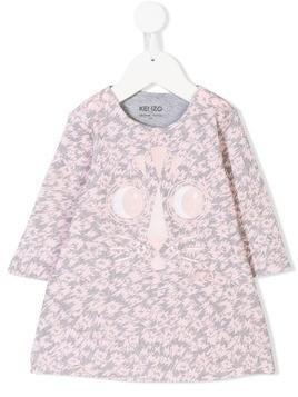 Kenzo Kids printed dress - Pink & Purple
