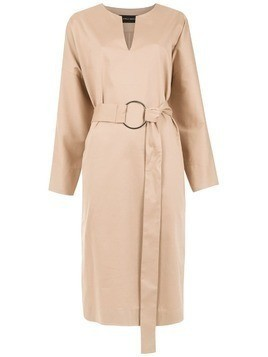 Gloria Coelho belted midi dress - Neutrals
