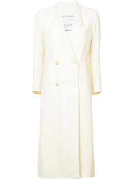Giuliva Heritage Collection double breasted long coat - White