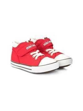 Miki House logo hi-top sneakers - Red