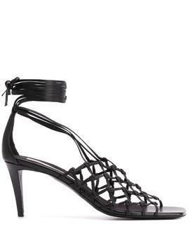 Stella McCartney lace-up lattice sandals - Black