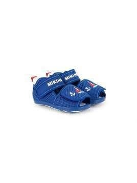 Miki House embroidered sailing boat sandals - Blue