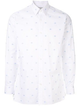 Gieves & Hawkes all-over logo print shirt - White