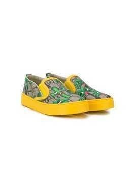Gucci Kids Smiling Plants sneakers - Yellow