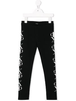 Calvin Klein Kids side logo leggings - Black