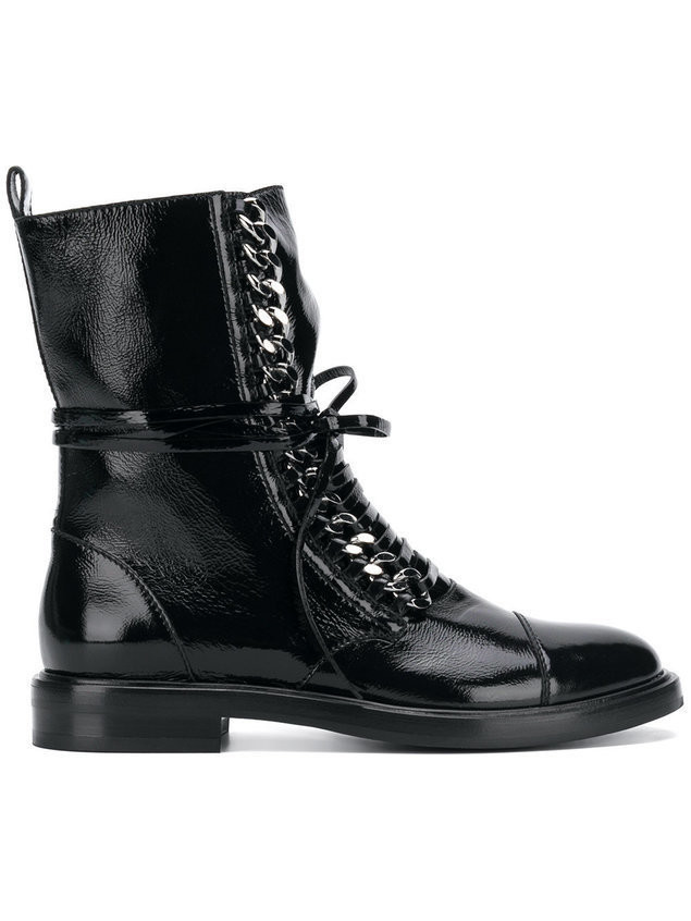 Casadei lace-up ankle boots - Black