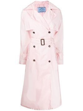 Prada double-breasted trench coat - PINK
