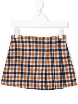 Il Gufo checked mini skirt - Blue