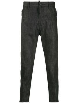 Dsquared2 zipped pockets tapered jeans - Black
