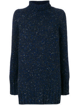 The Row speckled mock neck jumper - Blue