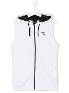 Diadora Junior TEEN zipped gilet - White
