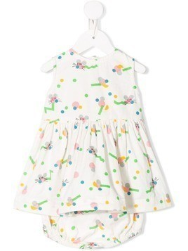 Stella McCartney Kids mice print dress set - Neutrals