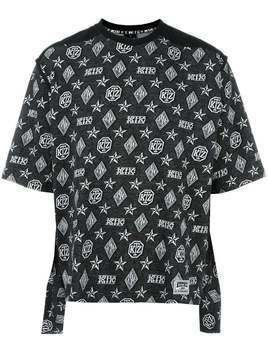 KTZ monogram print T-shirt - Black