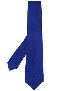 Kiton diamond pattern tie - Blue