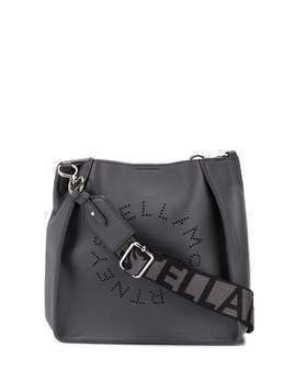 Stella McCartney mini Stella Logo crossbody bag - Grey