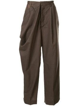 Hed Mayner draped side trousers - Brown