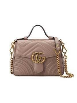 Gucci GG Marmont mini top handle bag - Pink