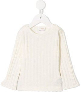 Fith ribbed jumper - White