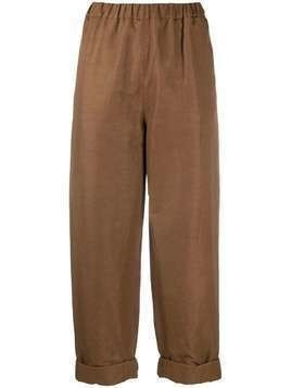 Rochas cropped straight-leg trousers - Brown