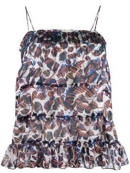 Derek Lam 10 Crosby Filomena speckled cami top - ECU ECRU