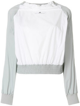 Adidas By Stella Mccartney shell pullover jacket - White
