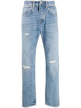 Edwin ripped straight leg jeans - Blue