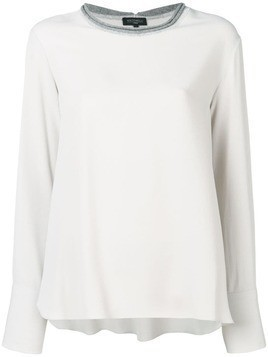 Antonelli contrasting collar blouse - Grey