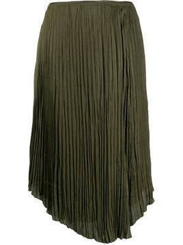 Vince crushed drape skirt - Green