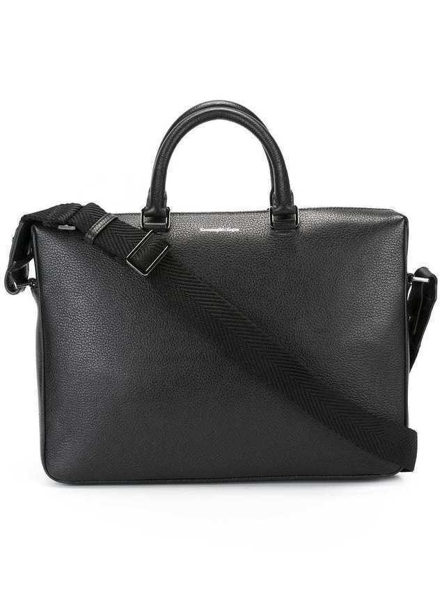 Ermenegildo Zegna zip up laptop bag - Black
