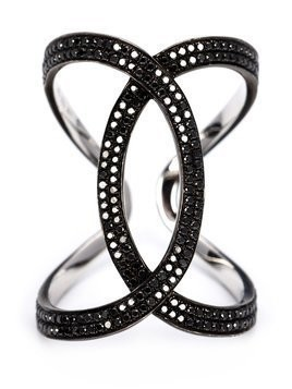 Kristin Hanson diamond wave ring - Black