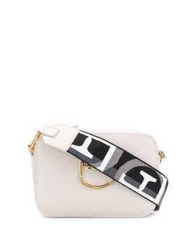Furla logo plaque crossbody bag - Neutrals