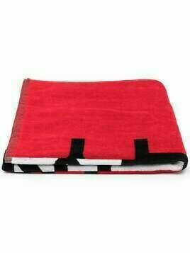 Givenchy Kids logo-print cotton towel - Red