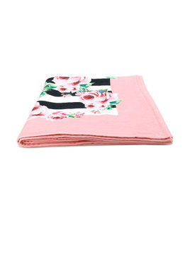 Dolce & Gabbana floral and stripe print towel - Pink & Purple