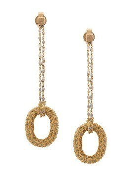 Carolina Bucci 18kt yellow gold Sapphire Link Chain earrings