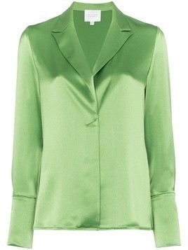 Galvan classic satin shirt - Green